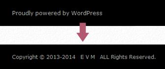 WordPressTwentyFourteenコピーライト表示のイメージ